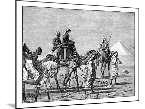 The Prince of Wales at the Pyramids, C1861--Mounted Giclee Print