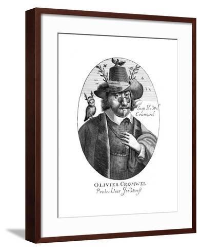 Oliver Cromwell--Framed Art Print