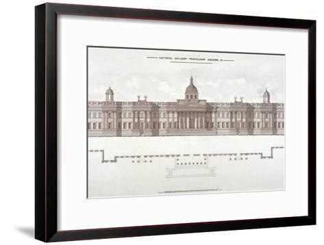 National Gallery, Trafalgar Square, Westminster, London, C1838--Framed Art Print