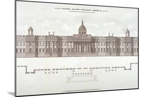 National Gallery, Trafalgar Square, Westminster, London, C1838--Mounted Giclee Print