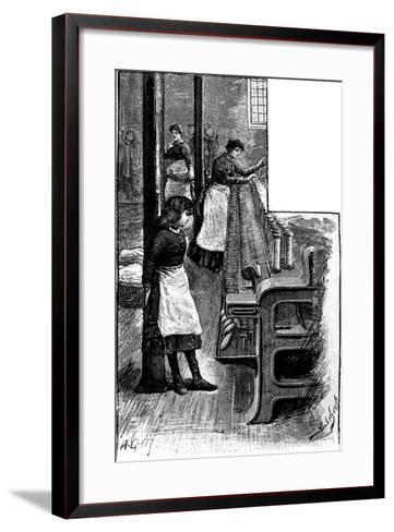 Lace Making, 1884--Framed Art Print