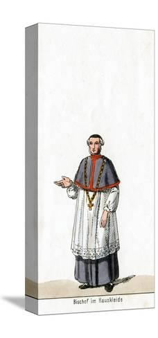 Bishop in House Dress, Costume Design for Shakespeare's Play, Henry VIII, 19th Century--Stretched Canvas Print