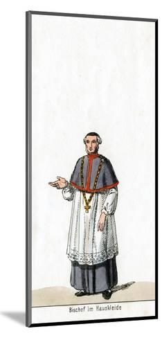 Bishop in House Dress, Costume Design for Shakespeare's Play, Henry VIII, 19th Century--Mounted Giclee Print