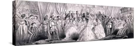 Wedding Ceremony of Prince Edward and Princess Alexandra in St George's Chapel at Windsor Castle--Stretched Canvas Print