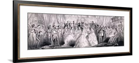 Wedding Ceremony of Prince Edward and Princess Alexandra in St George's Chapel at Windsor Castle--Framed Art Print