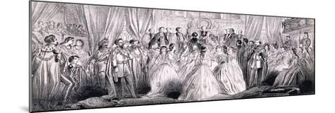 Wedding Ceremony of Prince Edward and Princess Alexandra in St George's Chapel at Windsor Castle--Mounted Giclee Print