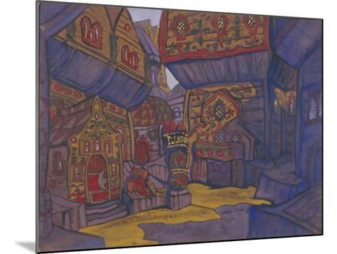 The Court of Prince Vladimir Galitsky, Stage Design for the Opera Prince Igor by A. Borodin, 1914-Nicholas Roerich-Mounted Giclee Print