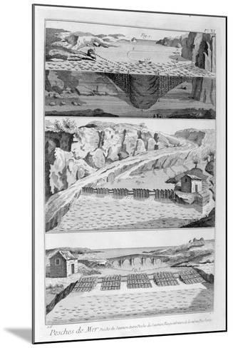 Salmon Fishing, 1751-1777--Mounted Giclee Print