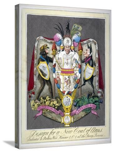 Design for a New Coat of Arms..., 1821--Stretched Canvas Print