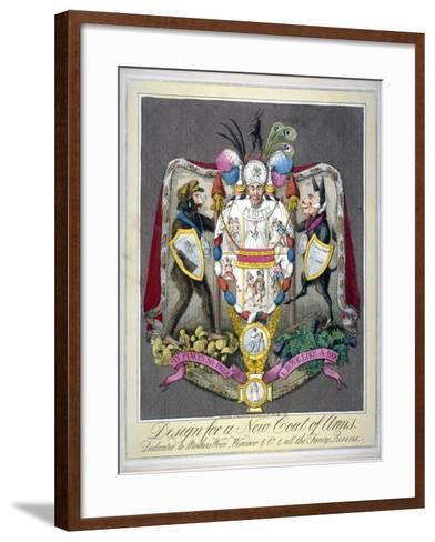 Design for a New Coat of Arms..., 1821--Framed Art Print
