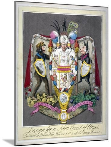 Design for a New Coat of Arms..., 1821--Mounted Giclee Print