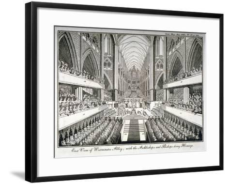 The Coronation of George IV in Westminster Abbey, London, 1821--Framed Art Print