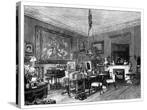 Queen Victoria's Private Sitting-Room, Osborne House, Isle of Wight--Stretched Canvas Print