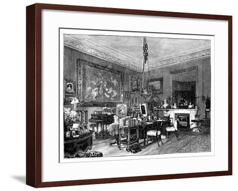 Queen Victoria's Private Sitting-Room, Osborne House, Isle of Wight--Framed Art Print
