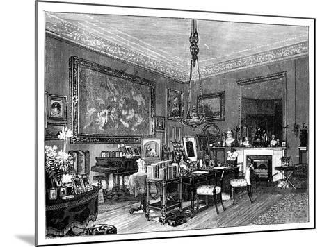 Queen Victoria's Private Sitting-Room, Osborne House, Isle of Wight--Mounted Giclee Print