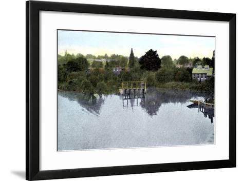 Sunset on the Thames, Caversham, Berkshire, 20th Century--Framed Art Print