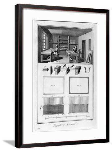 Paper Making, 1751-1777--Framed Art Print