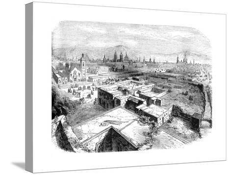 Mexico City, Mexico, Mid 19th Century--Stretched Canvas Print
