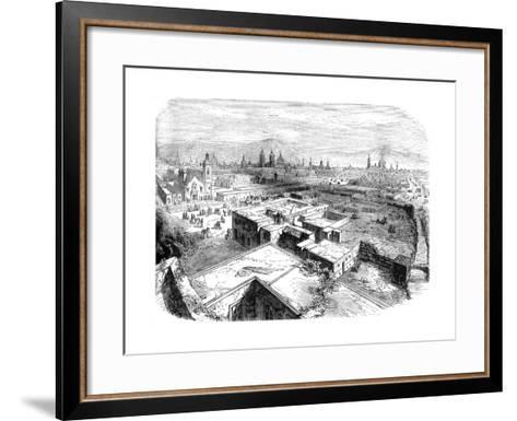 Mexico City, Mexico, Mid 19th Century--Framed Art Print