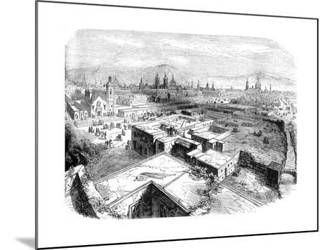 Mexico City, Mexico, Mid 19th Century--Mounted Giclee Print