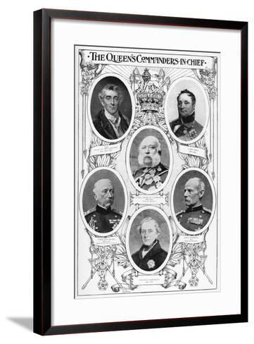 Queen Victoria's Commanders in Chief, 1901--Framed Art Print