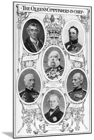 Queen Victoria's Commanders in Chief, 1901--Mounted Giclee Print