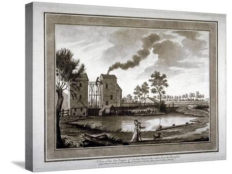 A View of the Fire Engine of Chelsea Waterworks Taken from the Roadside, 1783--Stretched Canvas Print
