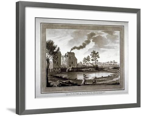 A View of the Fire Engine of Chelsea Waterworks Taken from the Roadside, 1783--Framed Art Print
