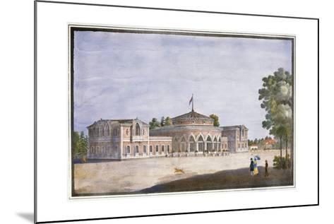 Railway Station and French Restaurant in Catharinhof, St Petersburg, Russia, 19th Century--Mounted Giclee Print