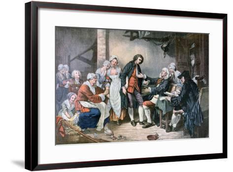 The Village Betrothal, 1892-Jean-Baptiste Greuze-Framed Art Print