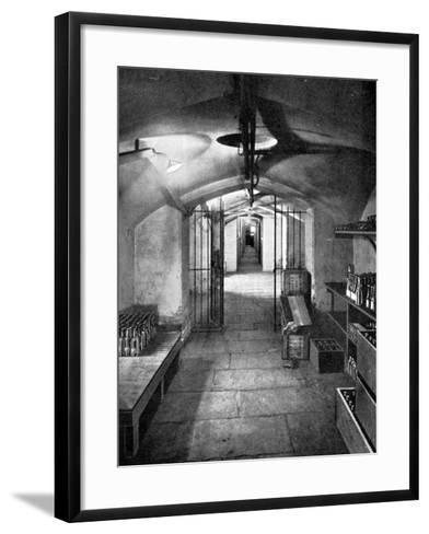 Wine Cellars of the House of Commons, Westminster, C1905--Framed Art Print