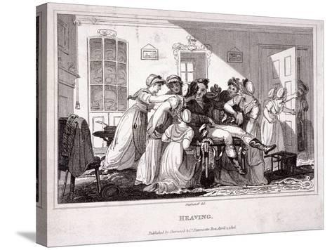 Heaving, 1816-James Stephanoff-Stretched Canvas Print