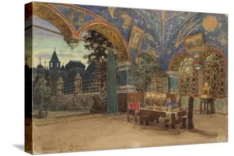 Dining Room of Prince Vasily Golitsyn, 1897-Appolinari Mikhaylovich Vasnetsov-Stretched Canvas Print