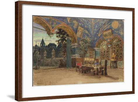 Dining Room of Prince Vasily Golitsyn, 1897-Appolinari Mikhaylovich Vasnetsov-Framed Art Print