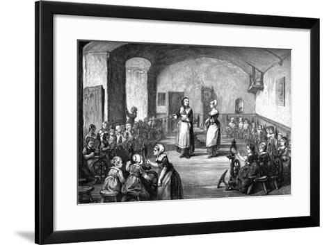 A German Spinning School, C1880--Framed Art Print