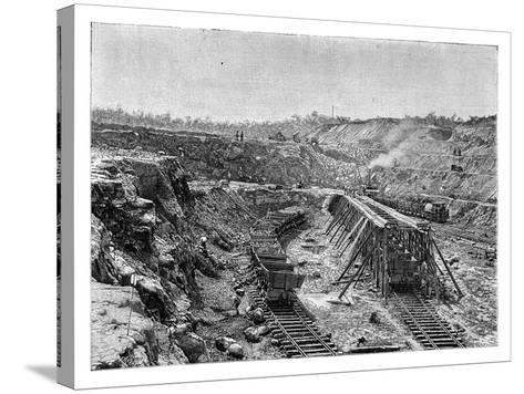 The Panama Canal under Construction, C1890--Stretched Canvas Print