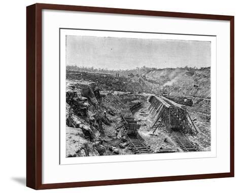 The Panama Canal under Construction, C1890--Framed Art Print