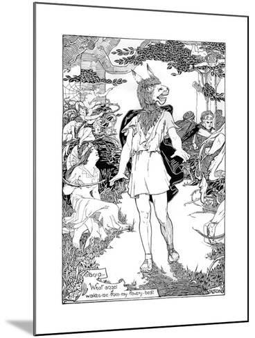 Bottom' in Scene from William Shakespeare's Midsummer Night's Dream, 1898--Mounted Giclee Print