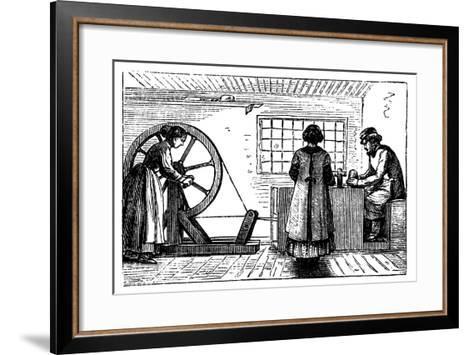 Potter's Workshop, C1860--Framed Art Print