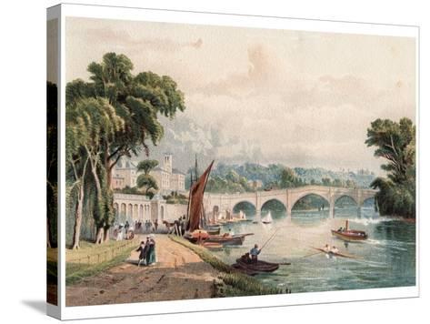 Richmond Bridge, 1880-F Jones-Stretched Canvas Print