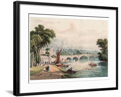 Richmond Bridge, 1880-F Jones-Framed Art Print