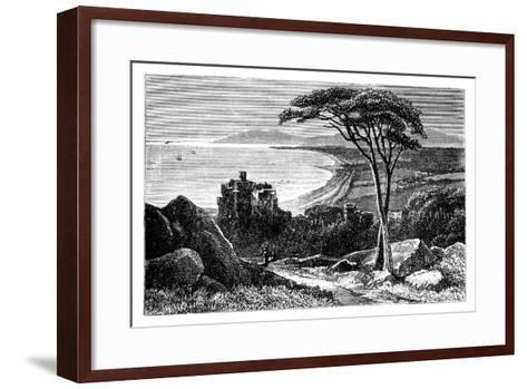 Victoria Castle, with Killiney-Bray Head in the Distance, Ireland, C1888--Framed Art Print