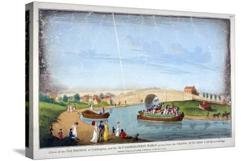 Bridge over the Grand Union Canal, Bayswater, London, 1801--Stretched Canvas Print