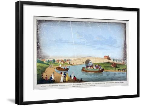 Bridge over the Grand Union Canal, Bayswater, London, 1801--Framed Art Print