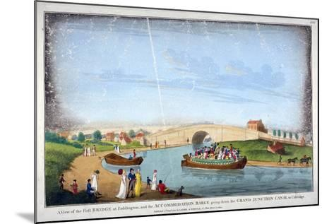 Bridge over the Grand Union Canal, Bayswater, London, 1801--Mounted Giclee Print