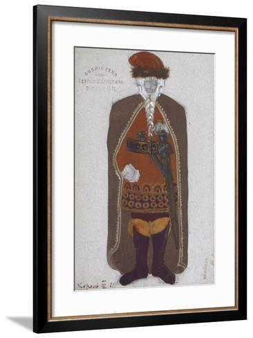 King Mark. Costume Design for the Opera Tristan Und Isolde by R. Wagner, 1912-Nicholas Roerich-Framed Art Print