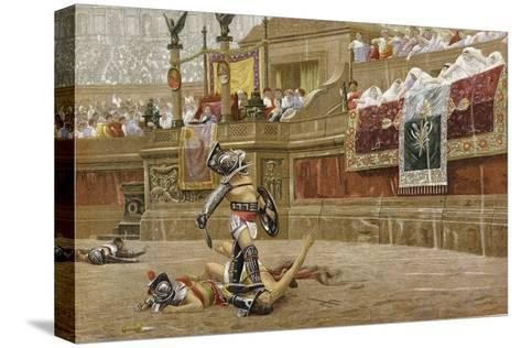 Gladiators in the Roman Arena-Jean-Leon Gerome-Stretched Canvas Print