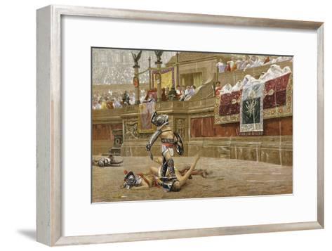 Gladiators in the Roman Arena-Jean-Leon Gerome-Framed Art Print