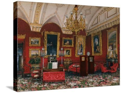 Interiors of the Winter Palace, the Study of Grand Princess Maria Nikolayevna, End of 19th C-Konstantin Andreyevich Ukhtomsky-Stretched Canvas Print
