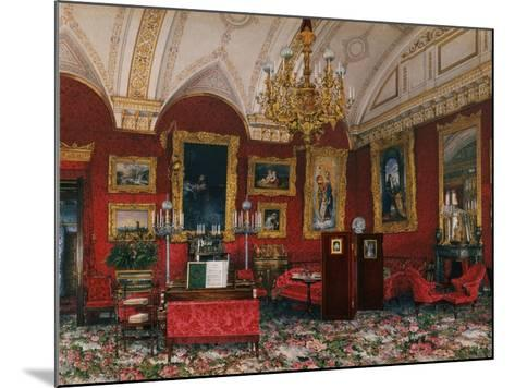 Interiors of the Winter Palace, the Study of Grand Princess Maria Nikolayevna, End of 19th C-Konstantin Andreyevich Ukhtomsky-Mounted Giclee Print